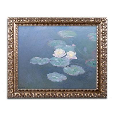 Trademark Global Monet 'Waterlilies Evening' Ornate Art, 16