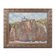"Trademark Global Monet 'Church at Varengeville' 16"" x 20"" Ornate Framed Art (BL01331-G1620F)"