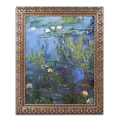 Trademark Global Monet 'Nympheas 1914-17' Ornate Framed Art, 16