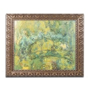 "Trademark Global Monet 'Passage On Waterlily Pond 1919' 16"" x 20"" Ornate Framed Art (BL01381-G1620F)"