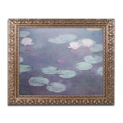 "Trademark Global Monet 'Pink Lilies 1897-1899' 16"" x 20"" Ornate Framed Art (BL01383-G1620F)"