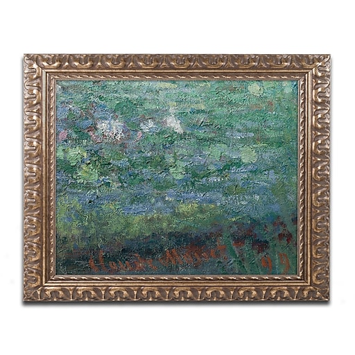 "Trademark Global Monet 'The Waterlily Pond Green Harmony' Ornate Art, 16""L x 20""W, Framed (BL01452-G1620F)"
