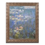"Trademark Global Monet 'Water Lilies IV 1840-1926' Ornate Art, 16""L x 20""W, Framed (BL01466-G1620F)"
