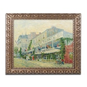 "Trademark Global van Gogh 'Restaurant de la Sirene 1887' 16"" x 20"" Ornate Framed Art (BL0146-G1620F)"