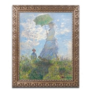 "Trademark Global Monet 'Woman with a Parasol 1875' Ornate Art, 16""L x 20""W, Framed (BL01474-G1620F)"