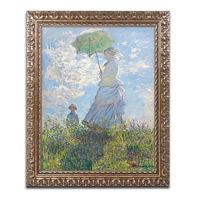 Trademark Global Monet 'Woman with a Parasol 1875' Ornate Art, 16