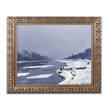 Trademark Global Monet 'Ice on Seine at Bougival 1867-8' 16