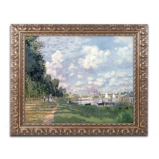"Trademark Global Monet 'The Marina at Argenteuil 1872' Ornate Framed Art, 16"" x 20"" (BL0174-G1620F)"