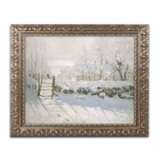 "Trademark Global Monet 'The Magpie 1869' Ornate Art, 16""L x 20""W, Framed (BL0178-G1620F)"