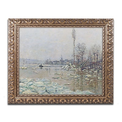 Trademark Global Monet 'The Breakup of Ice 1880' Ornate Art, 16