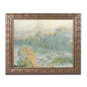 """Trademark Global Monet 'The Tuileries' 16"""" x 20"""" Ornate Framed Art (BL0245-G1620F)"""