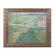 "Trademark Global Van Gogh 'Avuvers after the Rain 1890' Ornate Framed Art, 16"" x 20"" (BL0301-G1620F)"