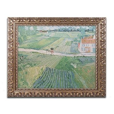 Trademark Global Van Gogh 'Avuvers after the Rain 1890' Ornate Framed Art, 16