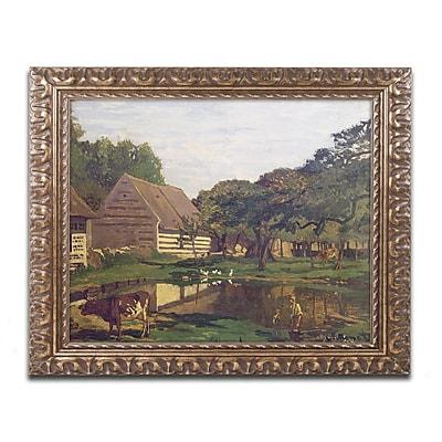 Trademark Global Monet 'A Farmyard in Normandy 1863' Ornate Framed Art, 16