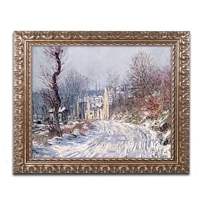 Trademark Global Monet 'The Road of Giverny Winter 1885' Ornate Framed Art 16