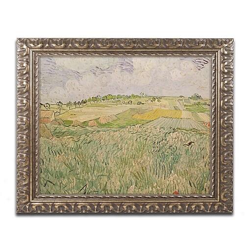 "Trademark Global Vincent van Gogh 'The Plains of Auvers' Ornate Art, 16""L x 20""W, Framed (BL0453-G1620F)"
