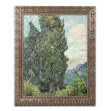 Trademark Global Van Gogh 'Cypresses 1889' Ornate Framed Art, 16