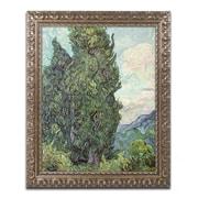 "Trademark Global Van Gogh 'Cypresses 1889' Ornate Framed Art, 16"" x 20"" (BL0460-G1620F)"