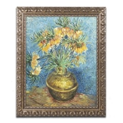"Trademark Global Vincent van Gogh 'Crown Imperial Fritillaries' Ornate Art, 16""L x 20""W, Framed (BL0508-G1620F)"