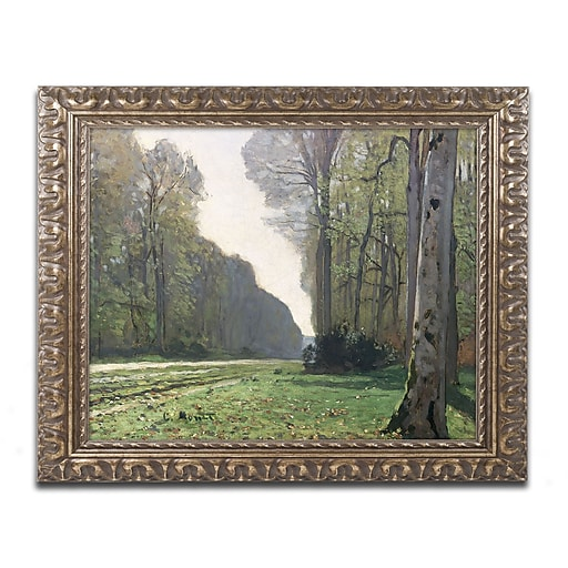 "Monet 'The Road to Bas Breau' Ornate Framed Art 16"" x 20"" (BL0527-G1620F)"
