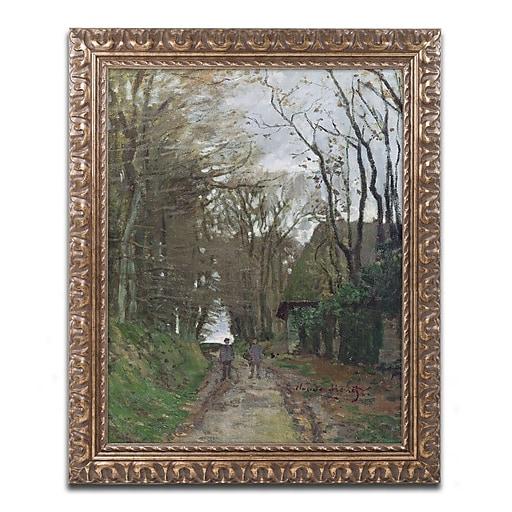 "Trademark Global Monet 'Path in Normandy' 16"" x 20"" Ornate Framed Art (BL0617-G1620F)"