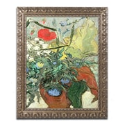 "Trademark Global van Gogh 'Bouquet of Wild Flowers' 16"" x 20"" Ornate Framed Art (BL0636-G1620F)"