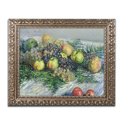 Trademark Global Monet 'Still Life with Pears and Grapes' 16