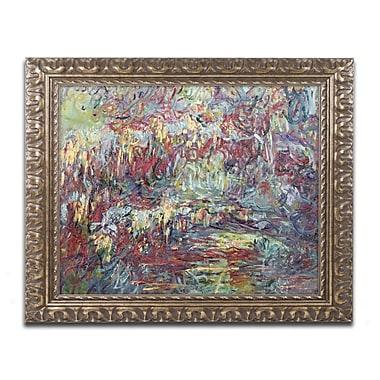 Trademark Global Monet 'The Japanese Bridge Giverny' Ornate Framed Art, 16