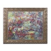"""Trademark Global Monet 'The Japanese Bridge Giverny' Ornate Framed Art, 16"""" x 20"""" (BL0685-G1620F)"""