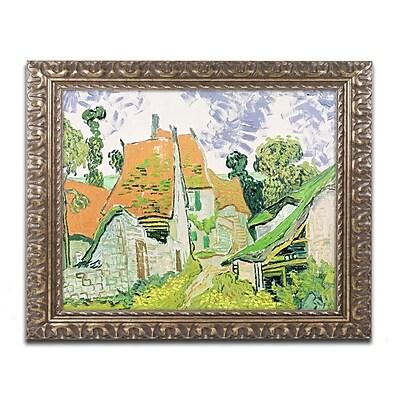 Trademark Global Vincent van Gogh 'Street in Auvers-sur-Oise' Ornate Framed Art 16