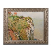 "Monet 'Cliff at Dieppe 1882' Ornate Framed Art 16"" x 20"" (BL0736-G1620F)"