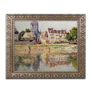 "Trademark Global Monet 'By the River at Vernon' 16"" x 20"" Ornate Framed Art (BL0870-G1620F)"