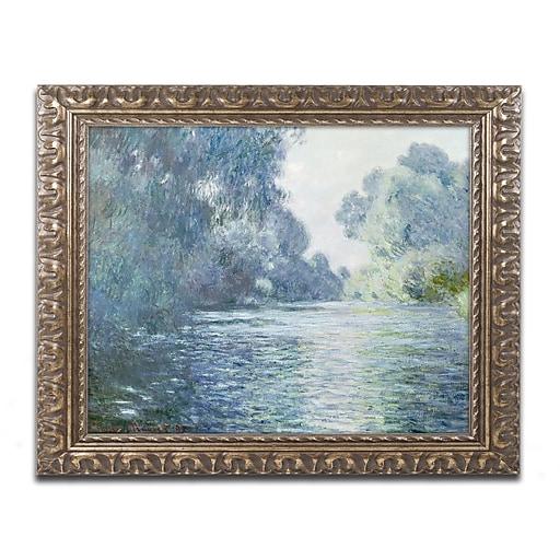 "Trademark Global Monet 'Branch of the Seine near Giverny' Ornate Framed Art, 16"" x 20"" (BL0884-G1620F)"