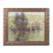 "Trademark Global Monet 'Vetheuil View from Lavacourt' Ornate Framed Art, 16"" x 20"" (BL0887-G1620F)"