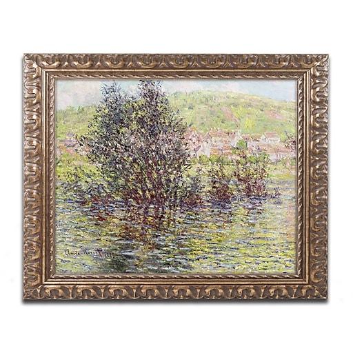 """Trademark Global Monet 'Vetheuil View from Lavacourt' Ornate Framed Art, 16"""" x 20"""" (BL0887-G1620F)"""
