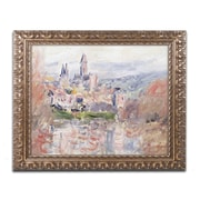 """Trademark Global Monet 'The Village of Vetheuil' 16"""" x 20"""" Ornate Framed Art (BL0890-G1620F)"""