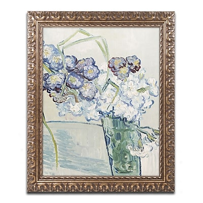 Trademark Global Vincent van Gogh 'Still Life Vase of Carnations' Ornate Art, 16