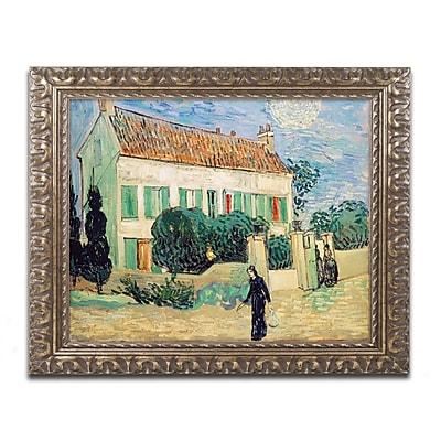 Trademark Global Van Gogh 'White House at Night' Ornate Framed Art, 16