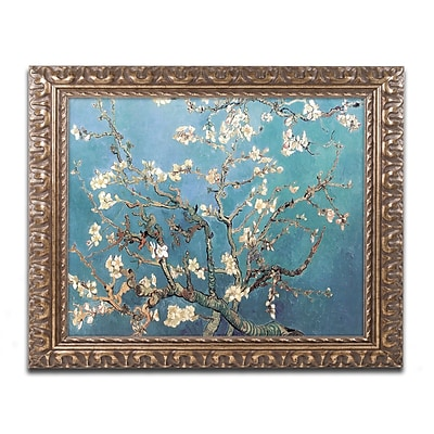 Trademark Global Vincent van Gogh 'Almond Blossoms' Ornate Framed Art 16