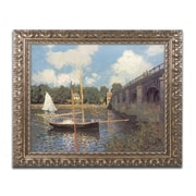 "Monet 'Bridge at Argenteuil II' Ornate Framed Art 16"" x 20"" (M0003-G1620F)"