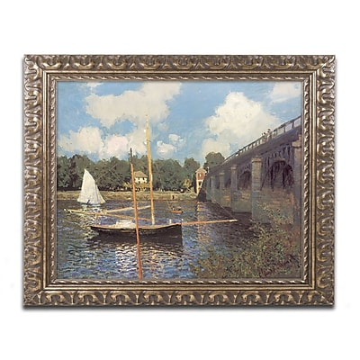 Monet 'Bridge at Argenteuil II' Ornate Framed Art 16