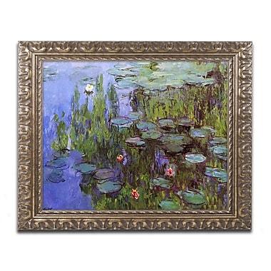 Trademark Global Monet 'Sea Roses' Ornate Art, 16