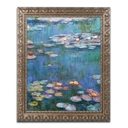 "Trademark Global Monet 'Waterlilies Classic' 16"" x 20"" Ornate Framed Art (M0005-G1620F)"