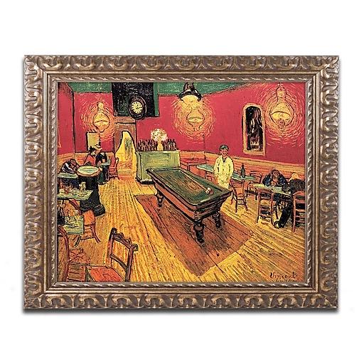 "Trademark Global The Night Cafe by van Gogh 16"" x 20"" Ornate Framed Art (M234-G1620F)"