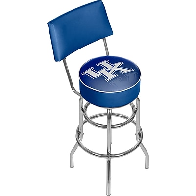 Trademark Global University of Kentucky Swivel Bar Stool with Back, Reflection, 41.75