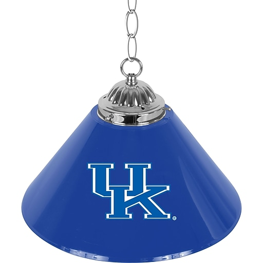 "Trademark Global 14"" University of Kentucky Single Shade Chrome Bar Lamp (KY1200)"