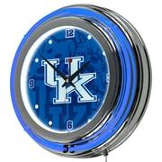 Trademark Global University of Kentucky Chrome Double Rung Neon Clock, Fade (KY1400-FADE)