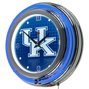 Trademark Global University of Kentucky Double Rung Neon Clock, Reflection Chrome (KY1400-REF)