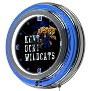 Trademark Global University of Kentucky Wildcats Chrome Double-Rung Neon Clock, Smoke (KY1400-SMOKE)