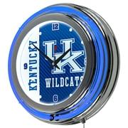 Trademark Global University of Kentucky Double Rung Neon Clock, Text Chrome (KY1400-TXT)